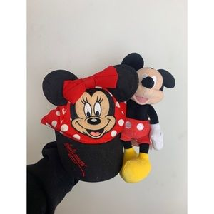 Kids Minnie Mouse Hat WITH Mickey Mouse Plush